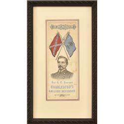 General Beauregard's Silk Funeral Ribbon 1893