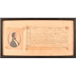 Confederate 1864 San Antonio Texas Bond Note