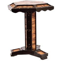 Antique Porcupine & Ebony Small Table