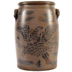 Hamilton & Co / Eagle Pottery 4 Gallon Crock