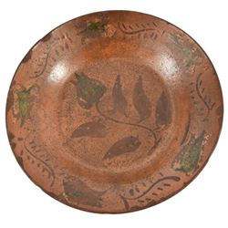 J.L. Blaney, Cookstown Pennsylvania Redware Plate