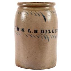 J.H. & L.B. Dilliner Stoneware Jar