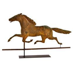 1880's Copper Smuggler Horse Weathervane