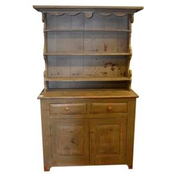 Early American Pewter Cabinet