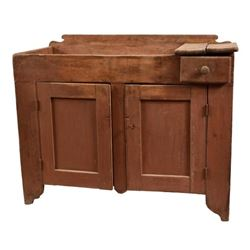 Antique Painted Dry Sink