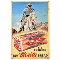 Lone Ranger Merita Bread Embossed Tin Sign