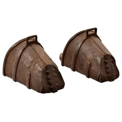 Pair of Early Spanish Colonial Iron Stirrups