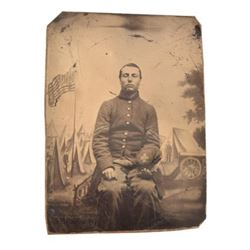 Civil War Union Soldier Tintype Photograph