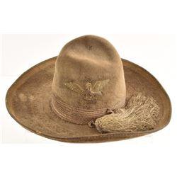 Antique Mexican Eagle Felt Sombrero