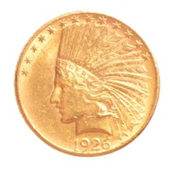 1926 Indian Head $10 Gold Coin