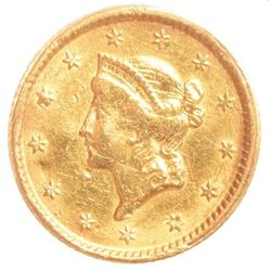 1851 Liberty Head $1 Gold Coin