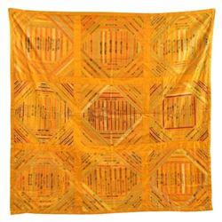 Antique American Cigar Advertising Silk Quilt