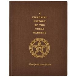 Clint Peoples' Autographed Texas Ranger Book
