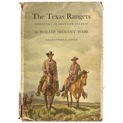 The Texas Rangers Autographed Book by Walter Webb