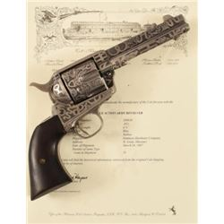 Texas Ranger's Cattle Brand Engraved Colt SAA .45