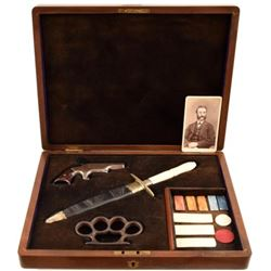 Cased .41 Derringer, Knuckles & New Orleans Dagger