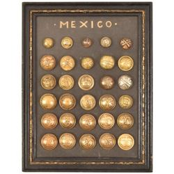 Collection of 30 Mexican Military Buttons