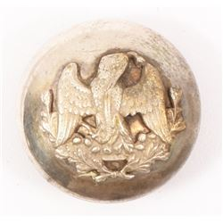 Mexican Silver Uniform button with Eagle and Snake