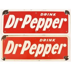 Pair of Drink Dr Pepper Porcelain Signs