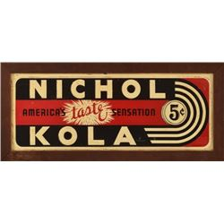 Nichol Kola Tin Sign Framed