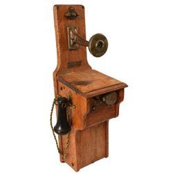 Oak Wall Mount Monarch Company Telephone