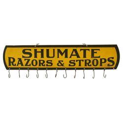 Shumate Razors & Strops Tin Hanger Sign