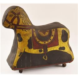 Vintage Carnival Giveaway Stuffed Horse On Wheels