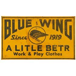 Blue Wing Work & Play Clothes Tin Sign