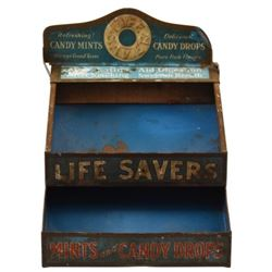 Life Savers Advertising Tin Store Display Rack