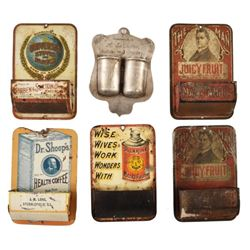Collection Of Advertising Match Holders