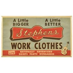 Stephens Work Clothes Grand Ole Opry Tin Sign