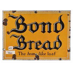 Bond Bread Porcelain Sign