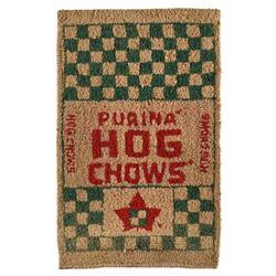 Purina Hog Chow Advertising Hooked Rug