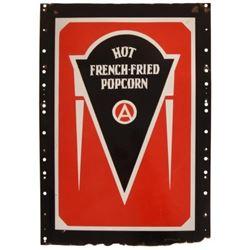 Hot French-Fried Popcorn Porcelain Sign