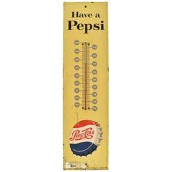 Pepsi-Cola Tin Thermometer