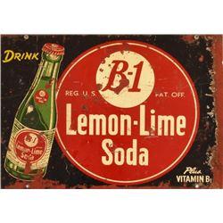 B-1 Lemon Lime Soda Tin Sign