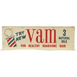 Vam Barber Shop Handsome Hair Flange Tin Sign