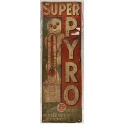 SUPER-PYRO Antifreeze Tin Sign
