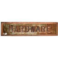 Antique Hardware Painted Wood Sign