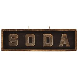 Soda Double Sided Wooden Hanging Sign