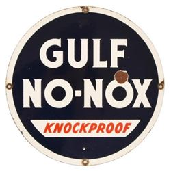 Gulf No-Nox Knock Proof Porcelain Sign