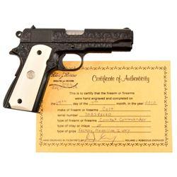 Engraved Colt Model 1911 Combat Commander