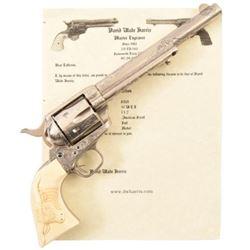 D.W. Harris Engraved Colt Model 1873 SA .44-40