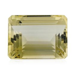 14.57 ct.Natural Emerald Cut Citrine Quartz