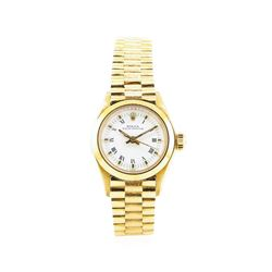 Rolex Lady's Oyster Perpetual Wrist Watch - 18KT Yellow Gold