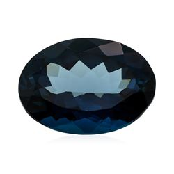 39.00 ct. Natural Oval Cut London Blue Topaz