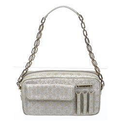 Louis Vuitton Silver Gold Metallic Canvas Monogram Shine McKenna Bag