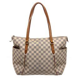 Louis Vuitton Damier Azur Canvas Leather Totally MM Bag