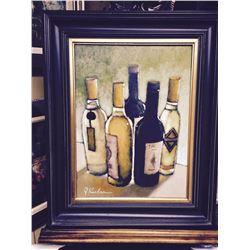 "J.Koehn ""Private Reserve""  wine, wine bar painting"