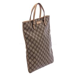 Gucci Brown Coated Canvas Leather GG Plus Mini Tote Bag